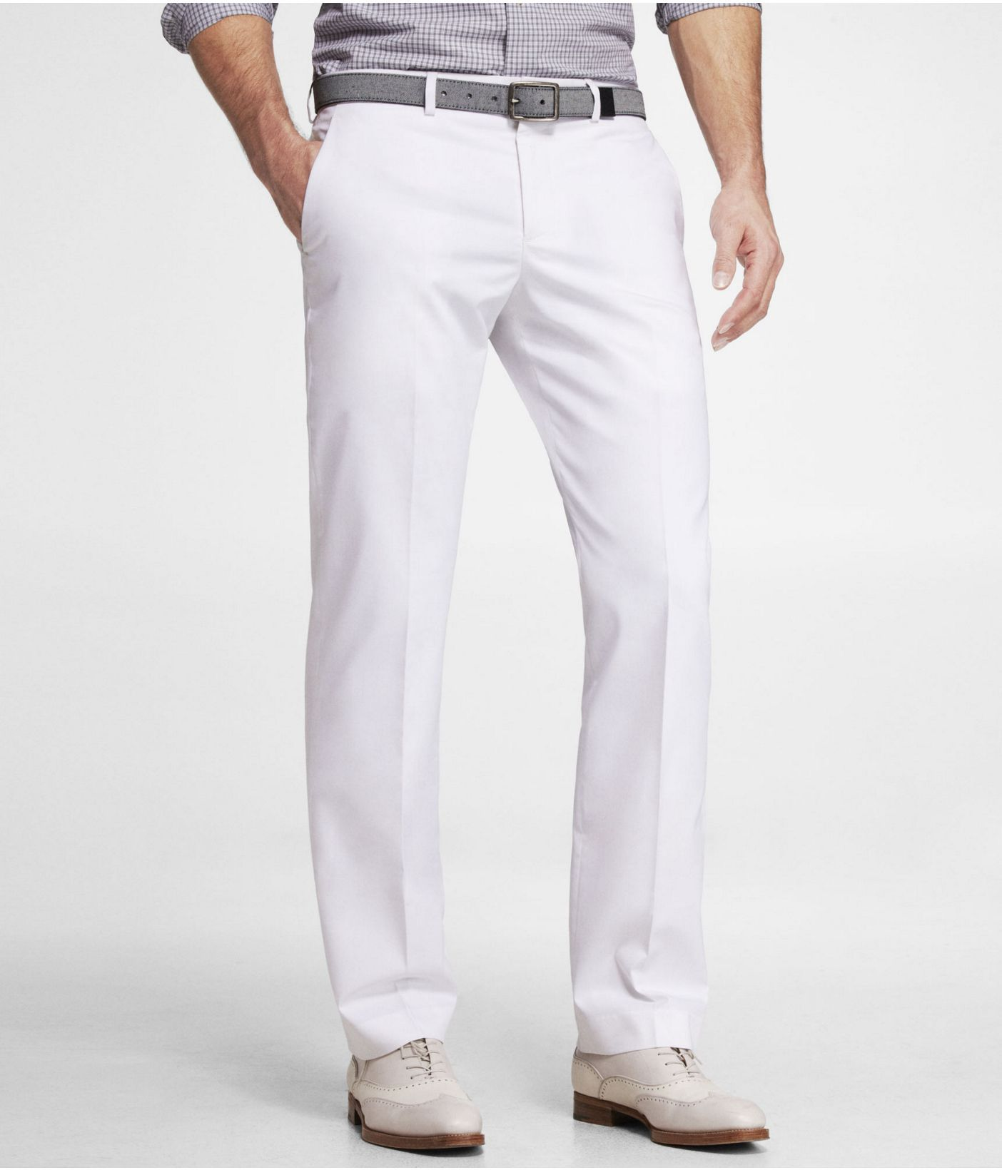 WHITE COTTON SATEEN PHOTOGRAPHER SUIT PANT   Express   Men s fashion ... 02aa74dafb