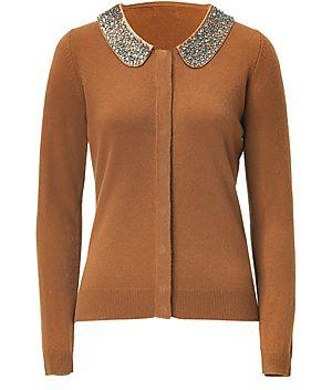 STEFFEN SCHRAUT  Copper Embellished Collar Cardigan