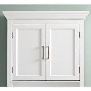 Wyndenhall Hayes White Bathroom Space Saver Cabinet White - Wyndenhall hayes white bathroom space saver cabinet