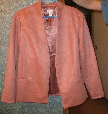 CHICOS-Blazer-tan-soft-polyester-lined-Size-3-Jacket-fashion-clothing-blazer