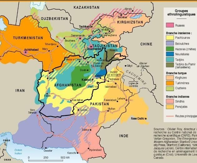 Map of all the different overlapping ethnolinguistic groups that