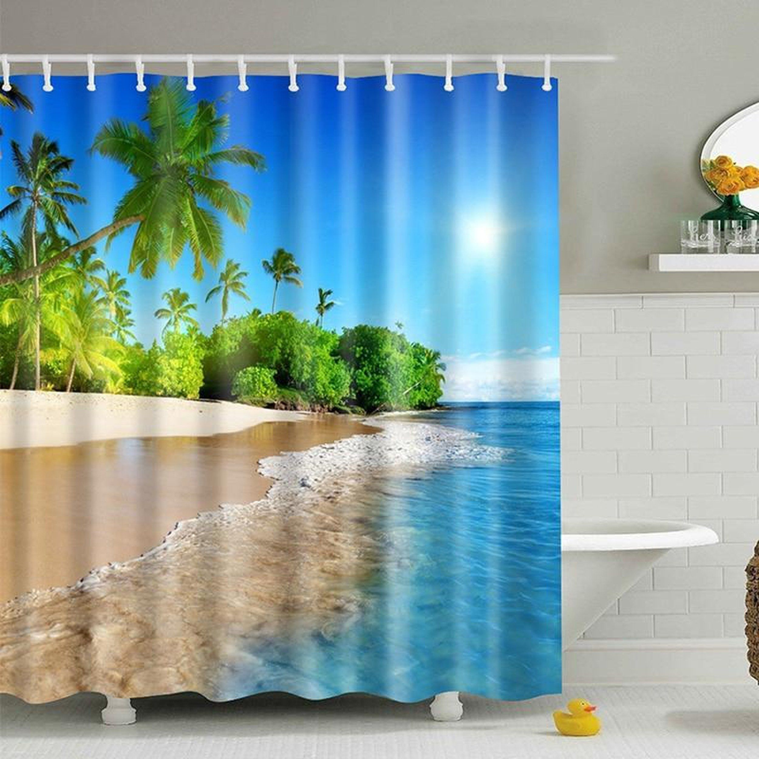 Waterproof Shower Curtain Landscape Shower Curtains 180 180 Cm