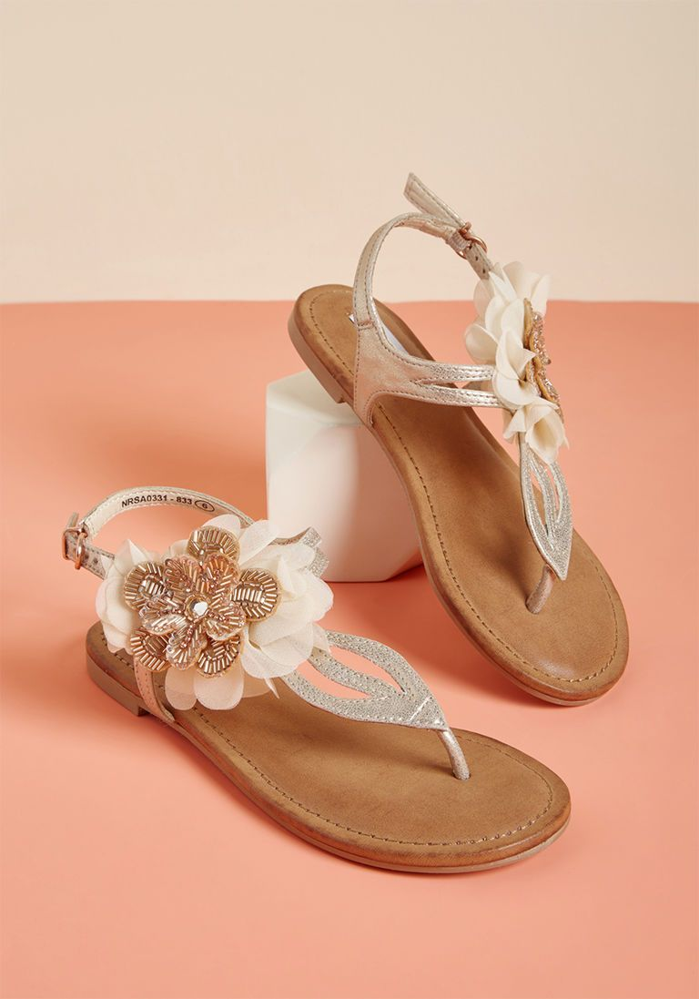 a26d20cb5a310 Bridal Shoes and Wedding Shoes. Blossoming Bliss T-Strap Sandal in 6.5 -  Mid Heel - Over 2 -3