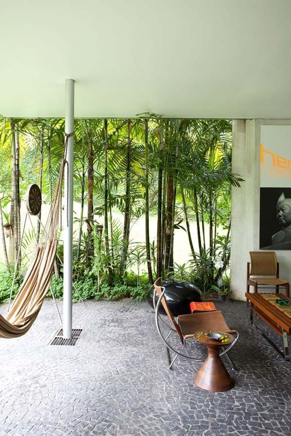 Natural Patio Ideas in Modern Home Interior To Merge With Nature in Sao  Paolo, Brasil