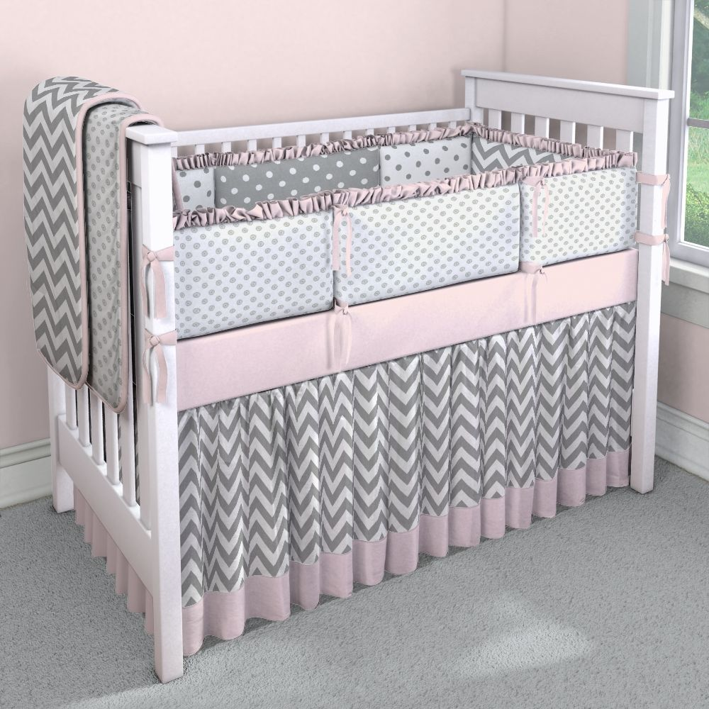 Chevron With Pink And Gray Custom Carousel Designs