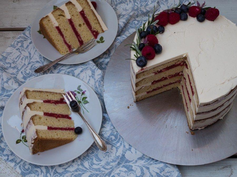 Schoko-Brombeer Törtchen // Hochzeits-Naked Cake im Mini