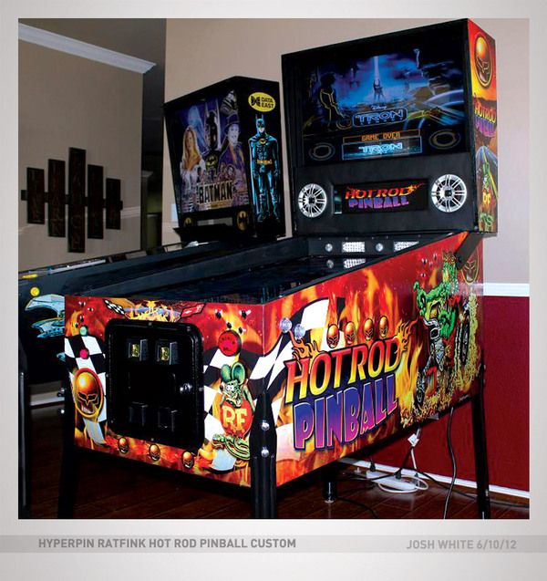 Josh White Virtual Pinball Artwork by Joshua White, via Behance