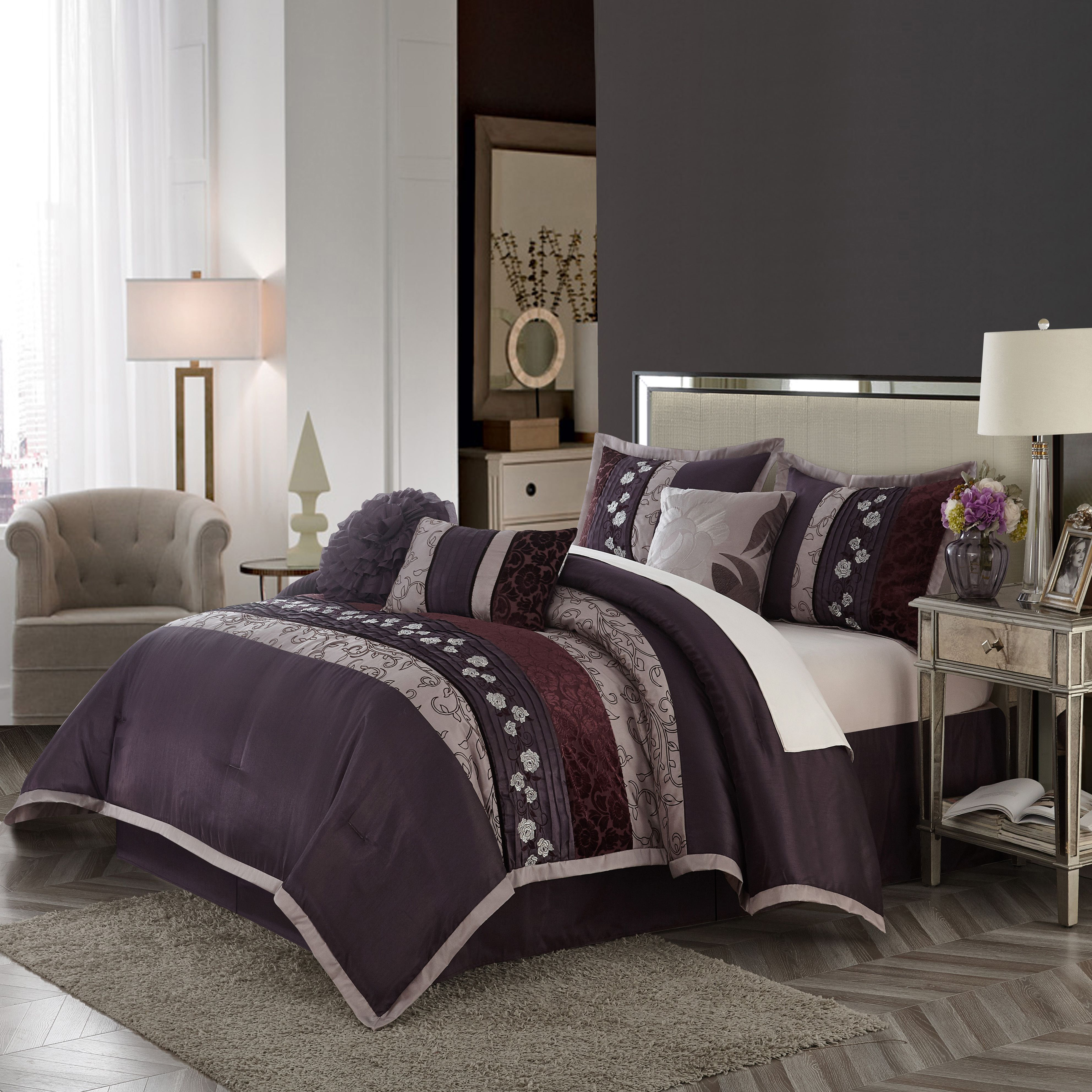 Free 2day shipping. Buy Nanshing Riley 7Piece Comforter