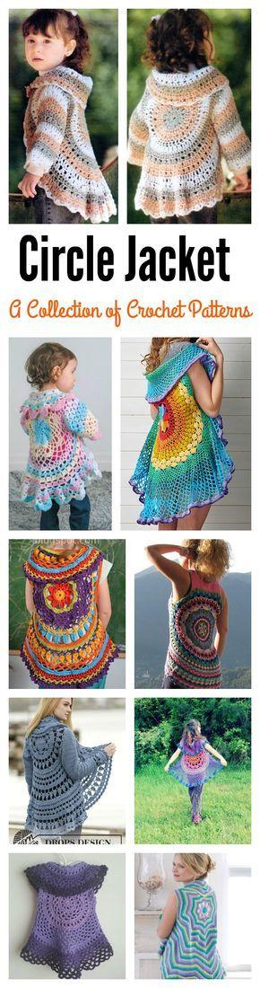 Crochet Pretty Circle Jacket with Pattern   Cestas y Estrella