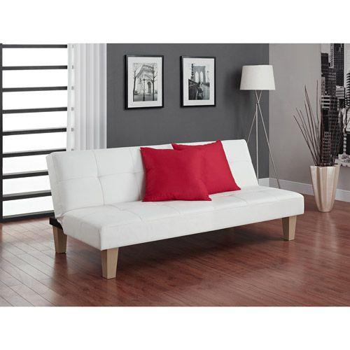 Walmart Aria Futon Sofa Bed White Leather Futon White Futon Futon Living Room