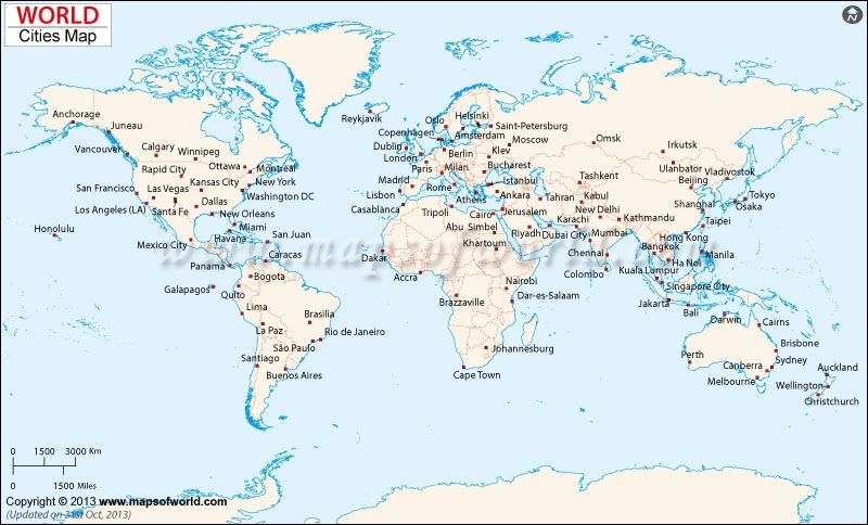 Diagram Of The World Map city maps map of major cities of the world