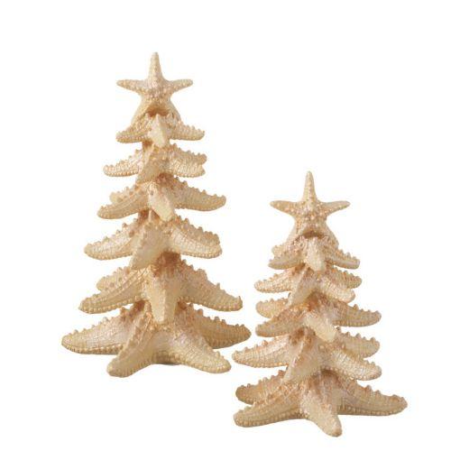 Starfish Tabletop Christmas Tree Decoration   Beach Chic ...