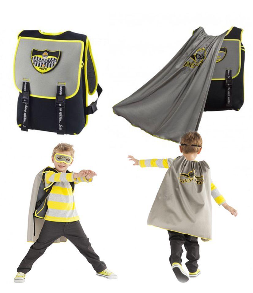 fca93e0401a7 Ninja Cape Backpack - superhero backpacks - From the outside