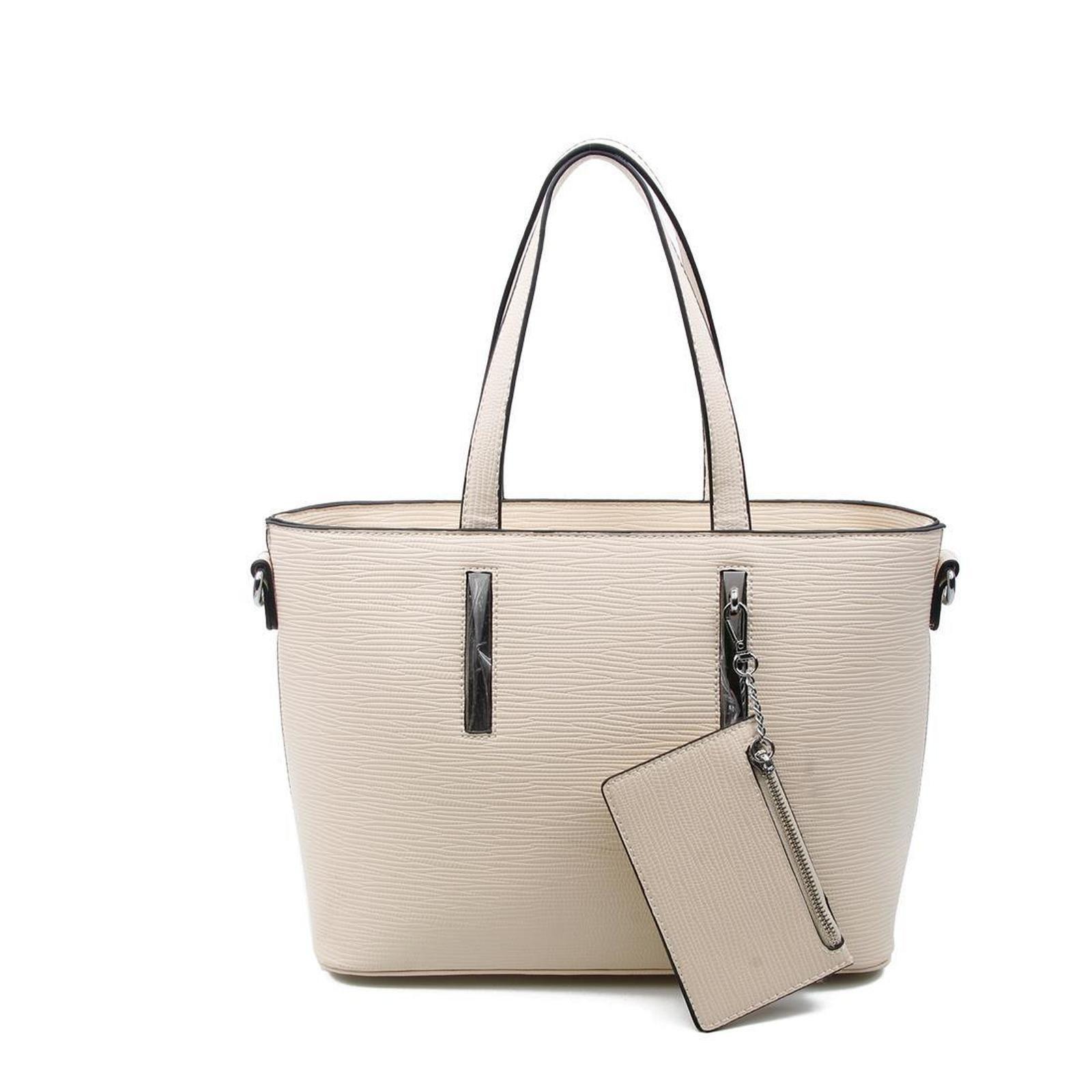 73486ea22c76b OBC Damen Business Tasche Shopper Workbag Schultertasche Umhängetasche  Handtasche Henkeltasche Beige