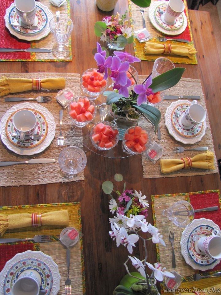 Mesa cafe da manha breakfast table set up 27 decoracao de mesas pinterest desayuno - Mesas de desayuno ...