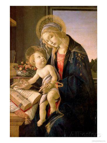 The Virgin Teaching the Infant Jesus to Read Giclee-vedos tekijänä Sandro Botticelli AllPosters.fi-sivustossa