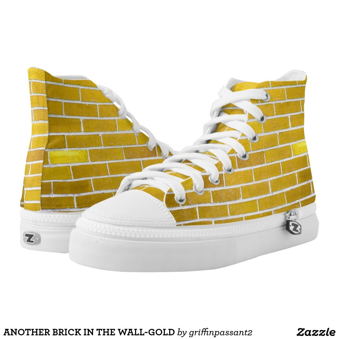 ANOTHER BRICK IN THE WALL-GOLD PRINTED SHOES | FOOTWEAR/HEADWEAR ...