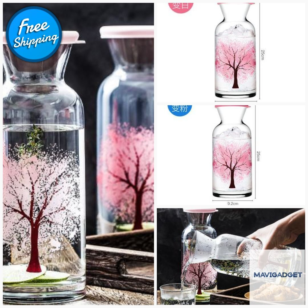 Clementine Glass Cooling Water Bottle #homedecorstuff #homegood #decoration #homedecortip #homedecorstore #luxuryhomes #homedecorationideas #homedecorlover #luxurydecors #decorationidea
