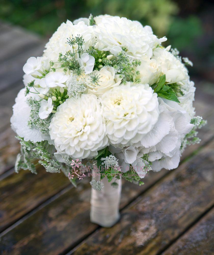 standesamt white flowers wedding dalien pinterest dahlie brautstrau sommer und. Black Bedroom Furniture Sets. Home Design Ideas