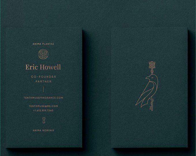 Luxury White Business Card Design and Print, Letterpress Business Card and blind emboss pattern, Gold foil business card