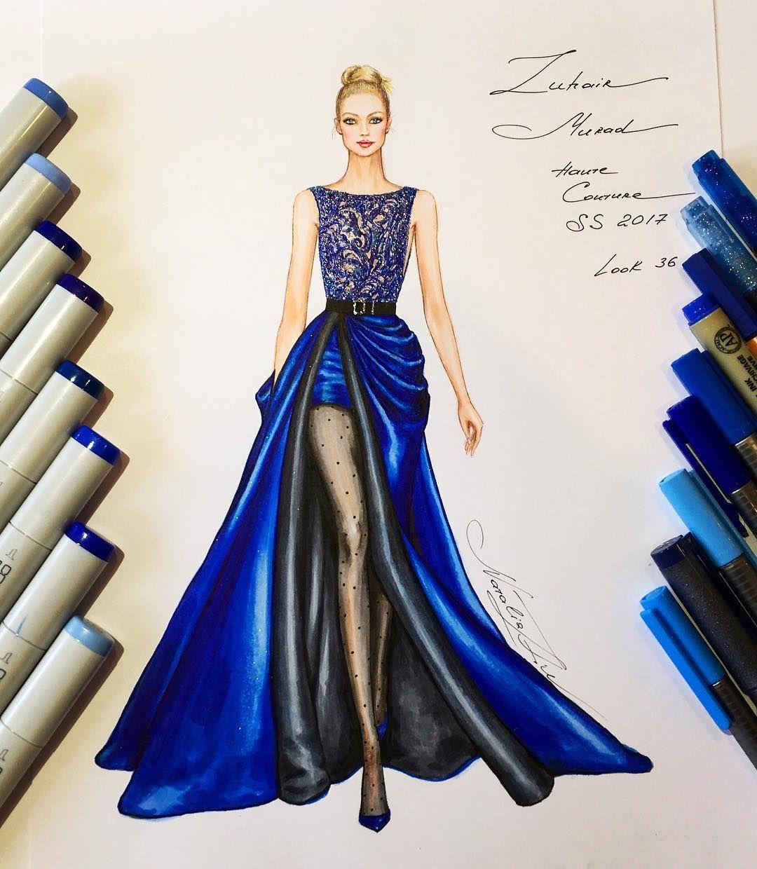 Z m haute couture s s 2017 painting en 2019 - Dessin de couture ...