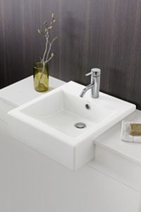 Semi Recessed Basins Overhang The Vanity Benchtop Allowing More Bench Space Space And Easier Access To The Tapware Semi Recessed Basin Basin