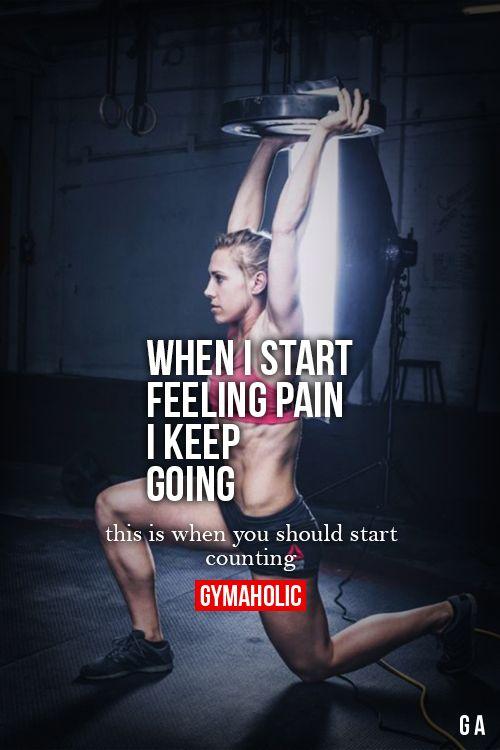 When I Start Feeling Pain, I Keep Going