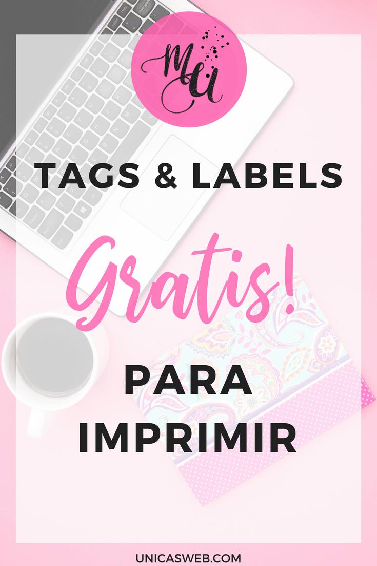 Tags y labels para imprimir GRATIS! Empresarias Únicas