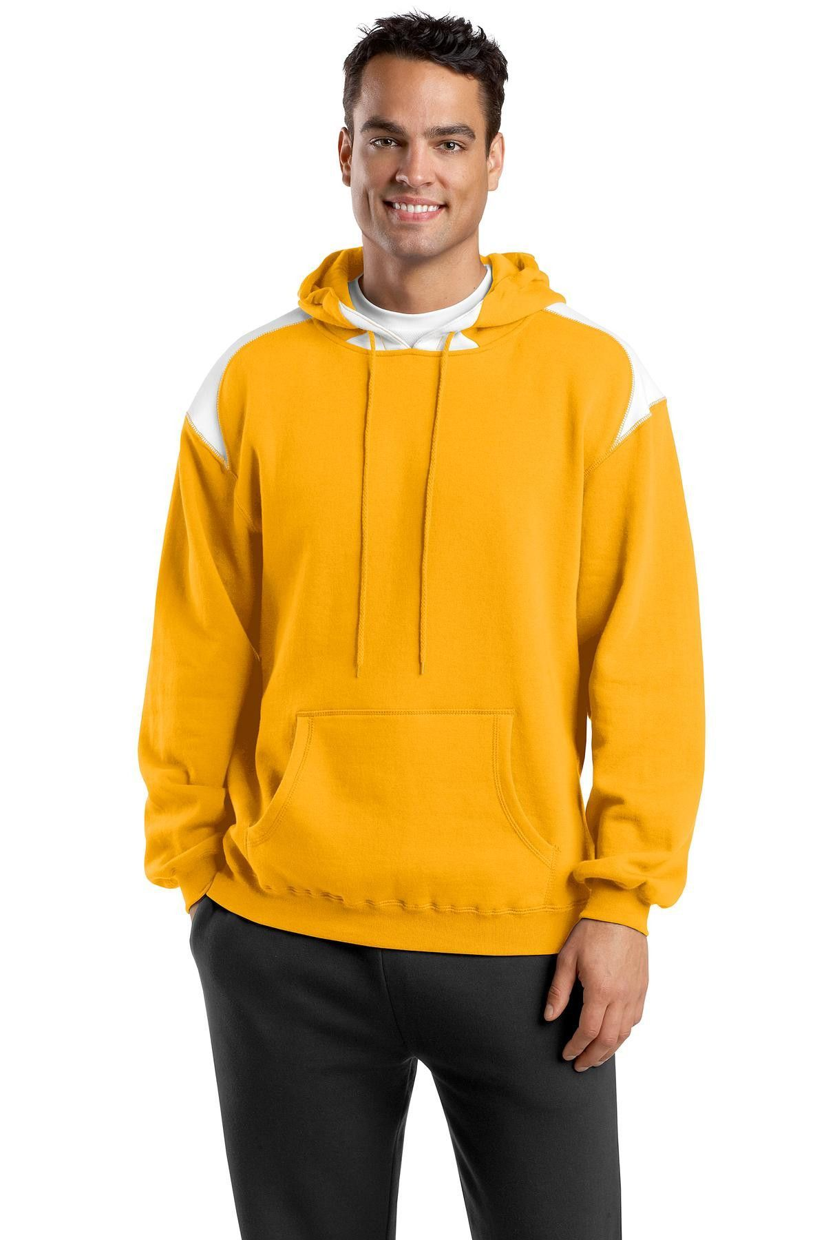 SportTek Pullover Hooded Sweatshirt with Contrast Color