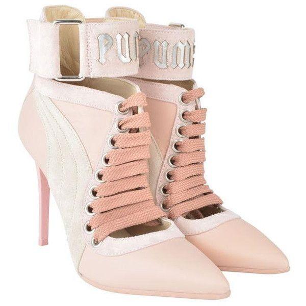 b3dc1484bc8 Fenty Puma By Rihanna Lace Up Heels ($425) ❤ liked on Polyvore ...