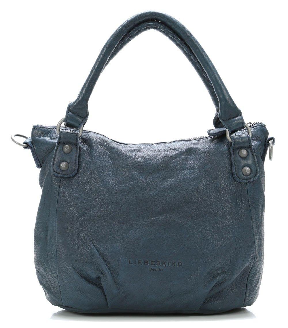 Liebeskind Vintage Gina Handtasche Leder Dunkelblau 30 Cm Vin Gina