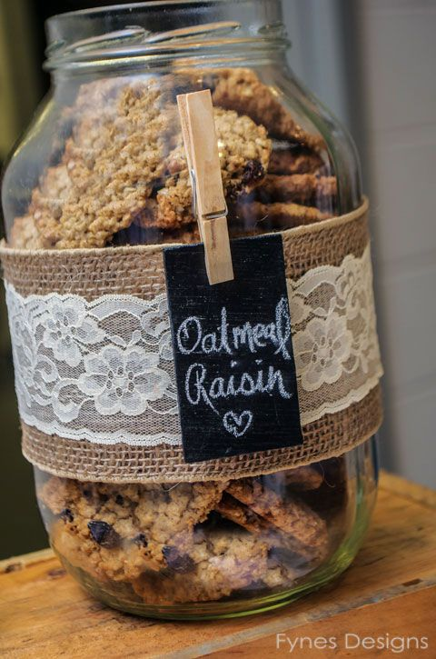Rustic Cookie Jar Beauteous Wedding Catering In The Country  Burlap Jar And Gift Decorating Design