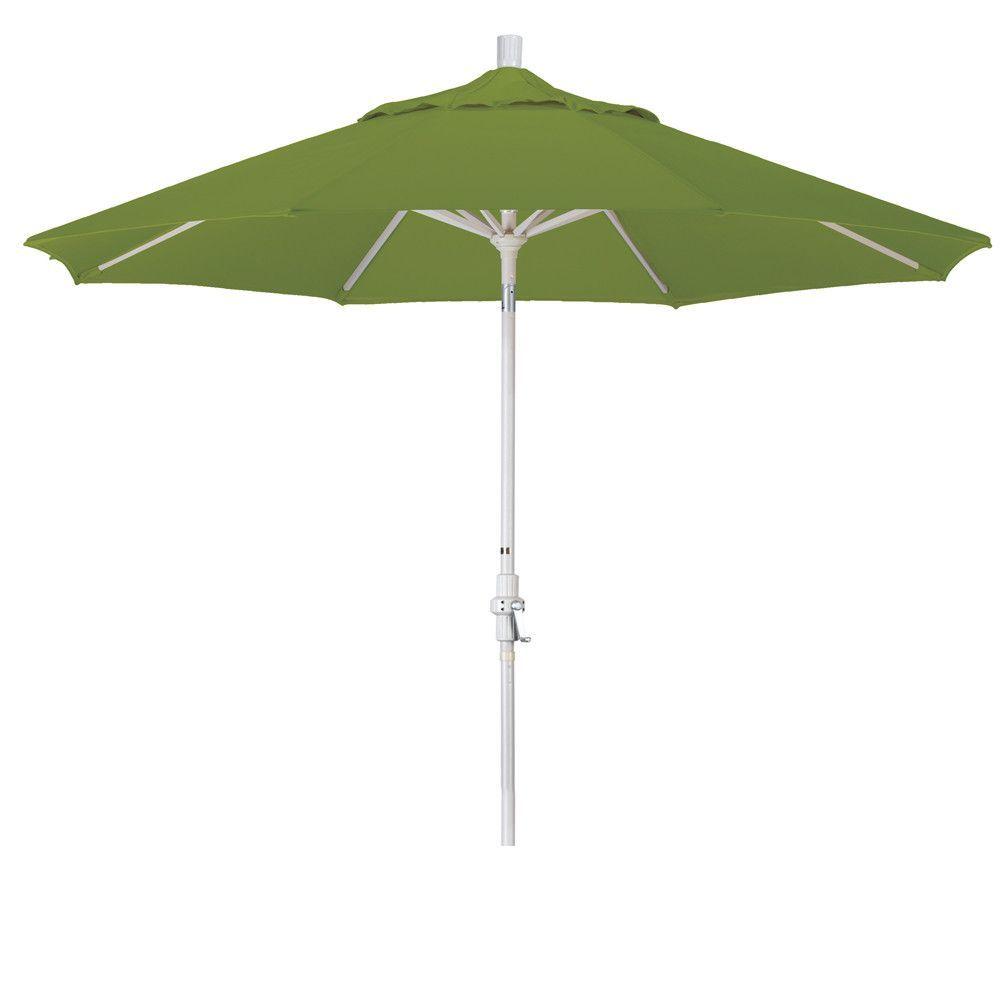 Eclipse Collection 9' Aluminum Market Umbrella Collar Tilt - Sand/Pacifica/Ginkgo