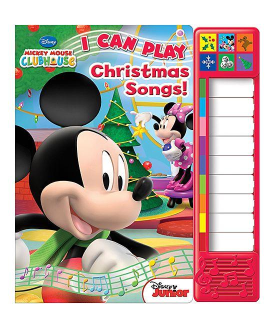 Mickey S I Can Play Christmas Songs Piano Board Book