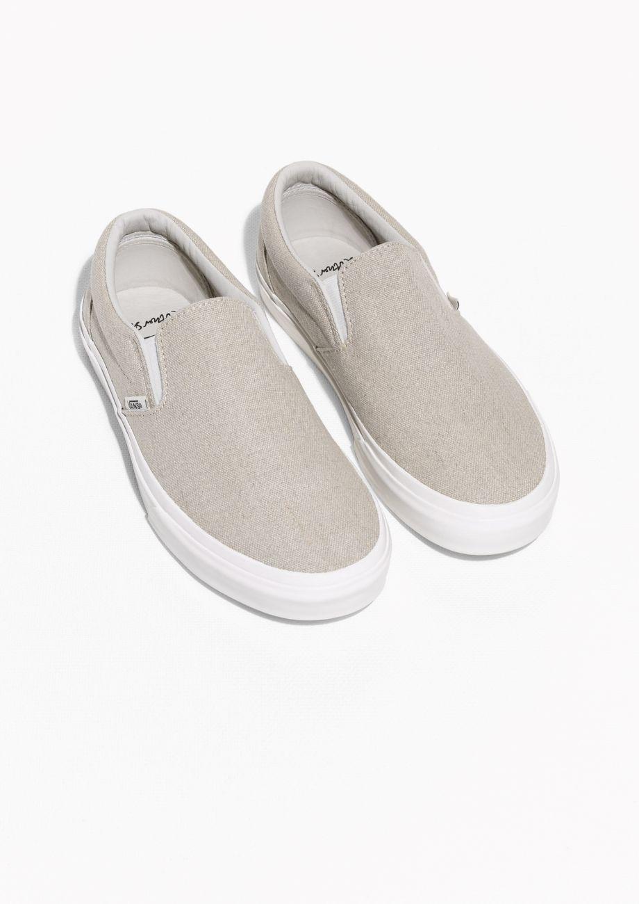 & Other Stories | Vans Linen Classic Slip-On | Beige | Vans, Vans ...