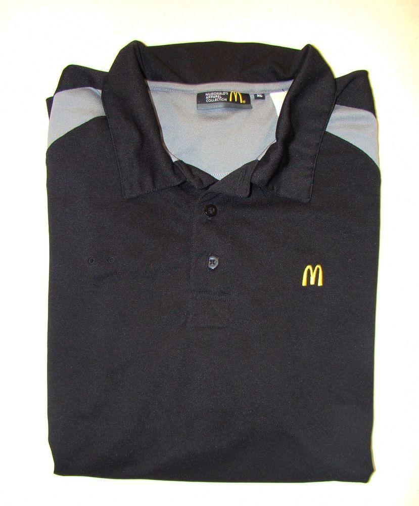 Mcdonalds Employee Uniform Black Polo Logo Ronald Mcdonald House
