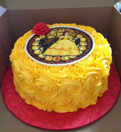 homemade beauty and the beast cake - Google Search