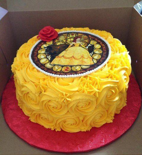 How To Make A Rainbow Birthday Cake Disney Cakes Beauty And The