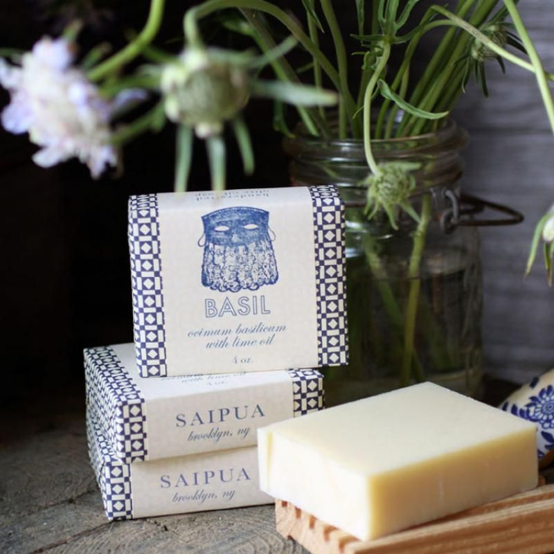 I have such a crush on Saipua's soap packaging.