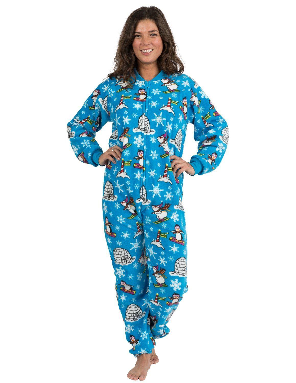 Winter Wonderland Adult Footless Fleece Fashion, Adult