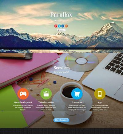 Parallax Responsive Single Page Scrolling Premium WordPress Theme ...