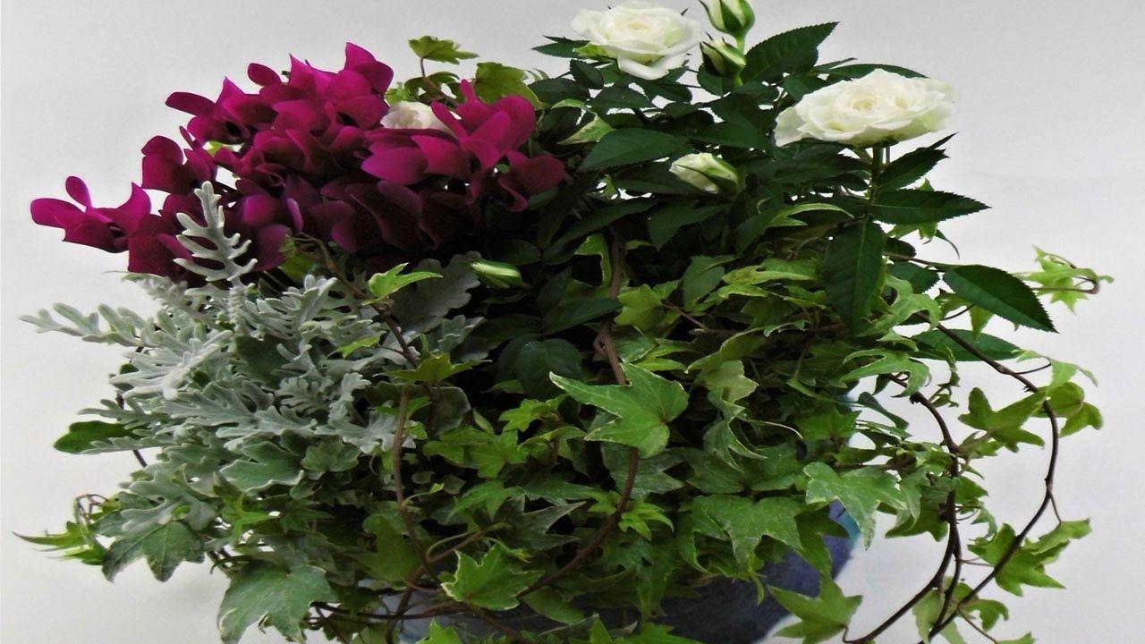 trauerfloristik pflanzschalen aus filz f r die gedenktage selber machen deko ideen mit flora. Black Bedroom Furniture Sets. Home Design Ideas