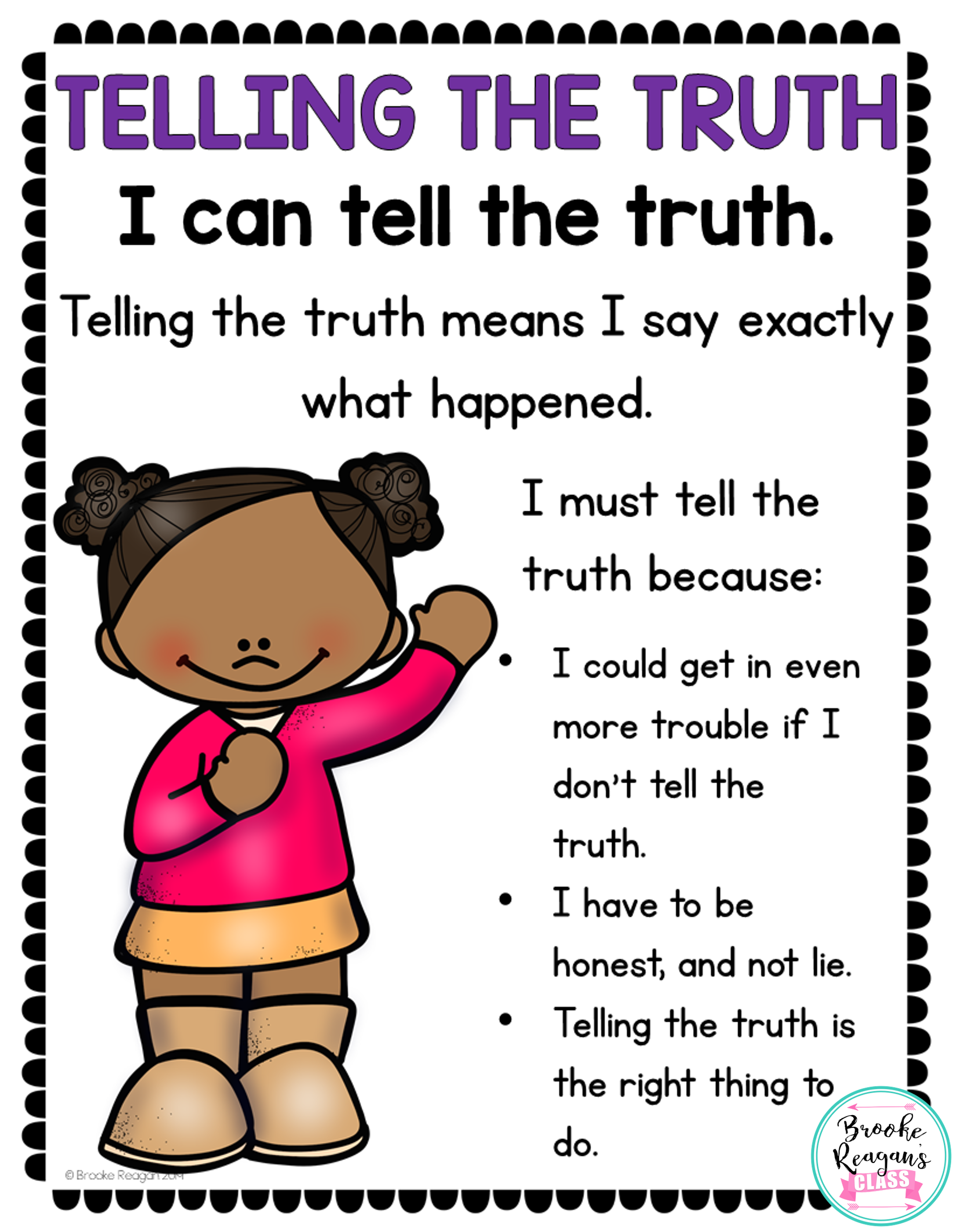 Social Skills Lesson Telling The Truth