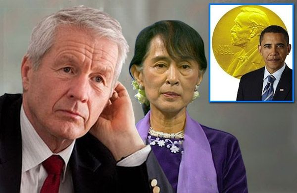 """Aung San Suu Kyi Oslo Speech Convinces Nobel Committee to Demand that Obama Return His Peace Prize... """"We said as long as we got his medal back, he could keep the really expensive box it came in. We even offered him a Consolation Nobel Peace Prize."""""""