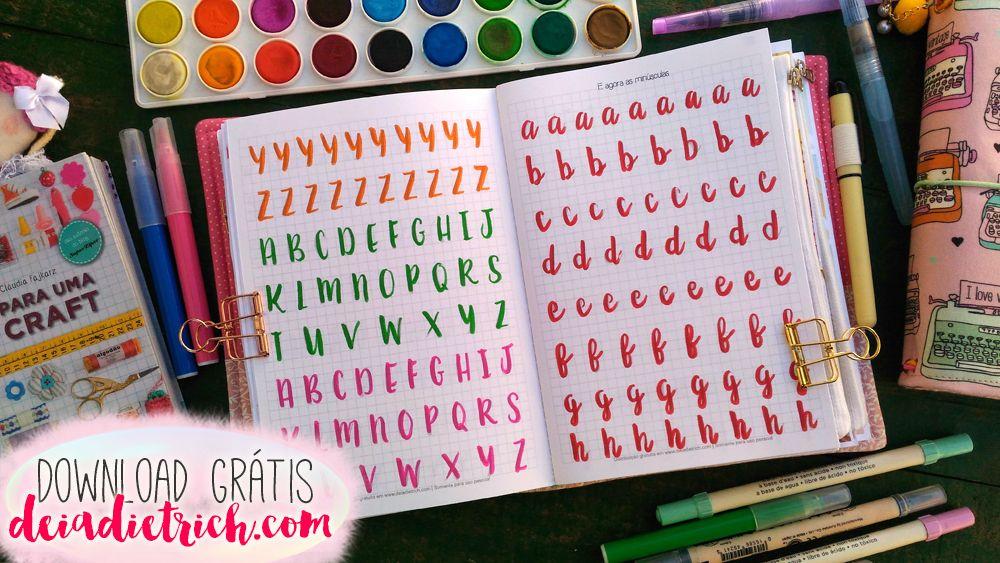 Download Caderno Para Treino De Brush Lettering A5 Com