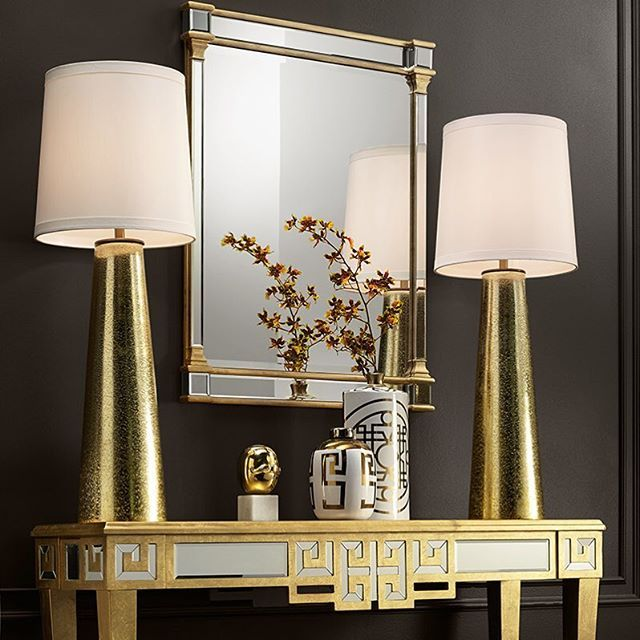 Use These Stunning Gold Extra Tall Table Lamps To Create A Little Drama In Your Entryway Glam Table Lamps Tall Table Lamps Glam Entryway Decor