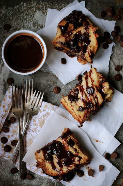Challah Chocolate Bread Pudding with Chocolate Ganache by How To: Simplify, via Flickr