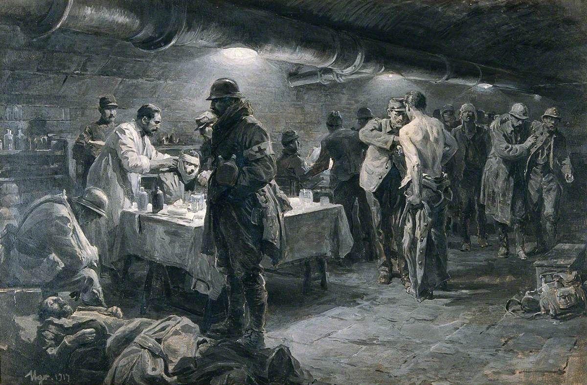 A French Underground Hospital at Verdun, 1917. | History ...