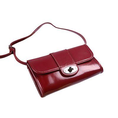 Mulberry Clutch Daria Patent Leather Bag Red  120e28292a5c7