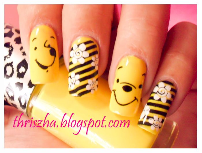 Winnie The Pooh Nail Art Google Search Nail Art Pinterest